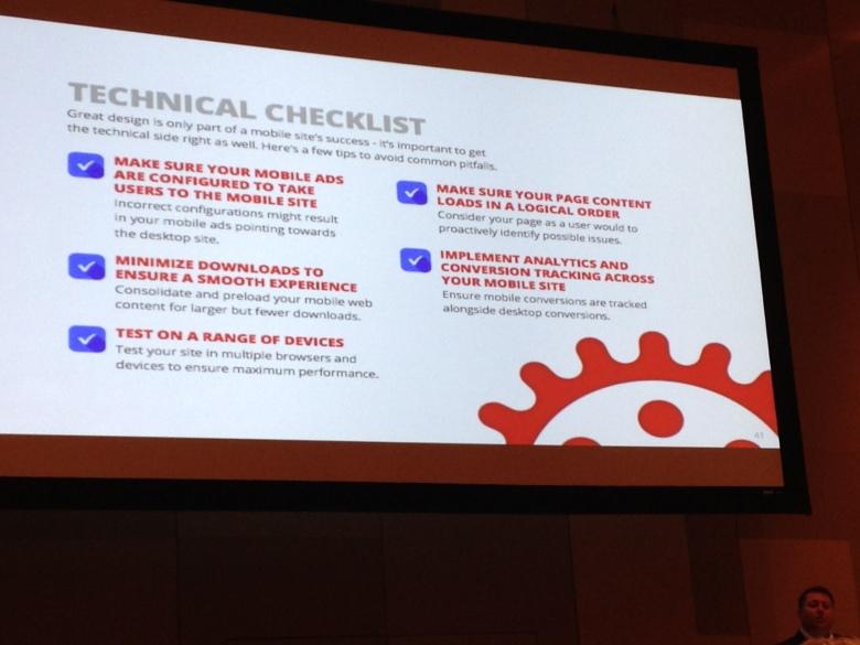 Joe DeMike's technical check list