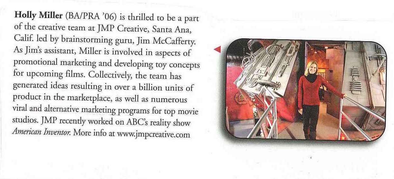 JMP Creative_Holly Miller_ article in CU newspaper.jpg
